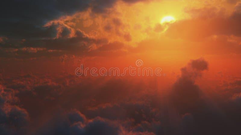 Δραματική άποψη από τον ουρανό διανυσματική απεικόνιση