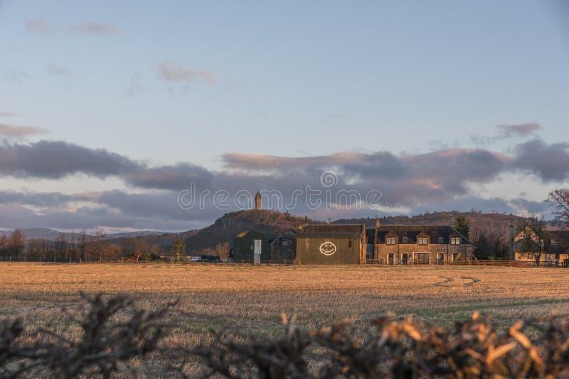 Δραματική άποψη του μνημείου Wallace στοκ εικόνες