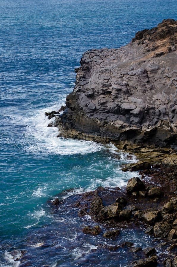 Δραματική ακτή, μεγάλο canaria στοκ εικόνα