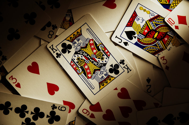 δραματικό παιχνίδι καρτών στοκ εικόνες