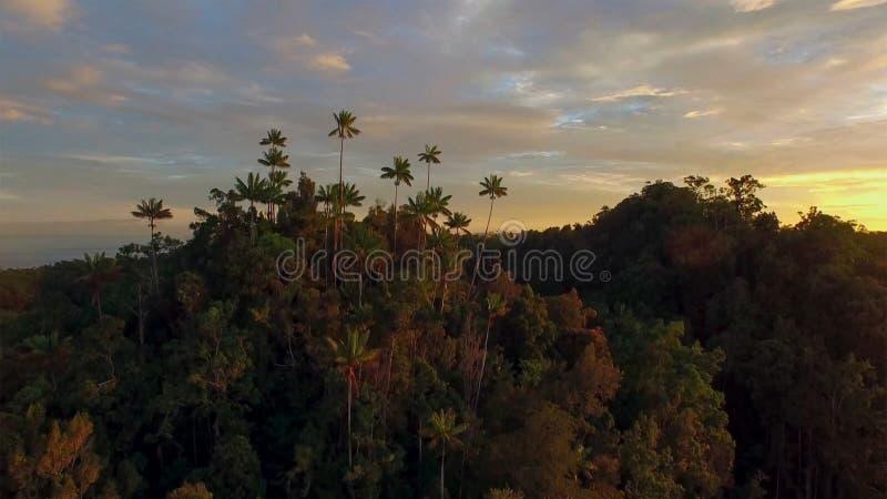 Δραματικό παράκτιο ηλιοβασίλεμα με το νησί στοκ φωτογραφίες