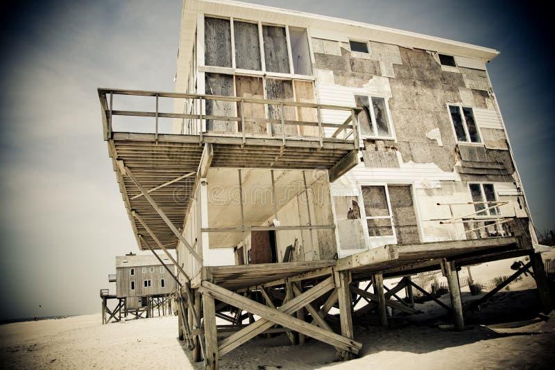 δραματικό σπίτι παραλιών στοκ φωτογραφίες με δικαίωμα ελεύθερης χρήσης