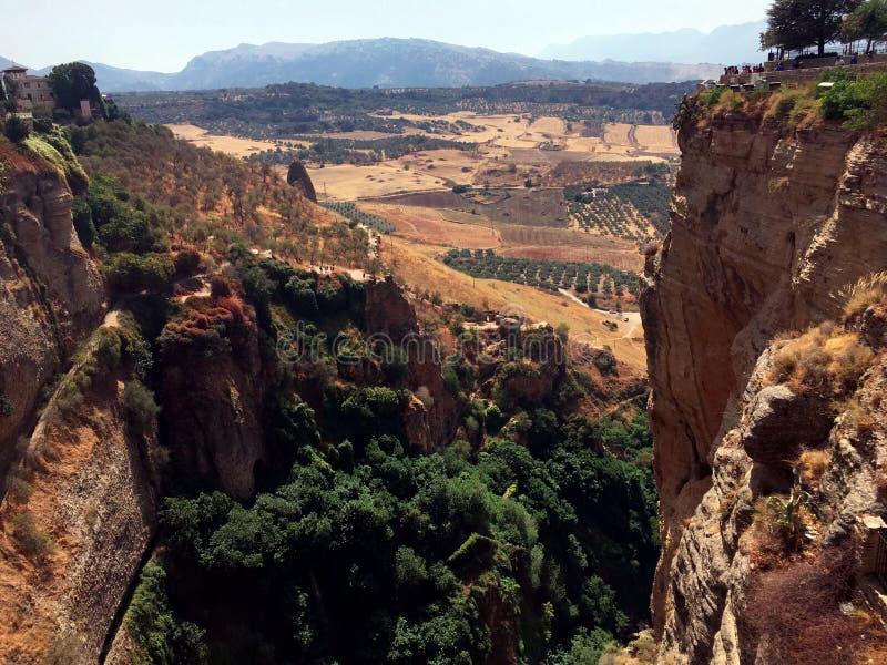 Δραματικό φαράγγι, Ronda, Ανδαλουσία, Ισπανία στοκ εικόνα