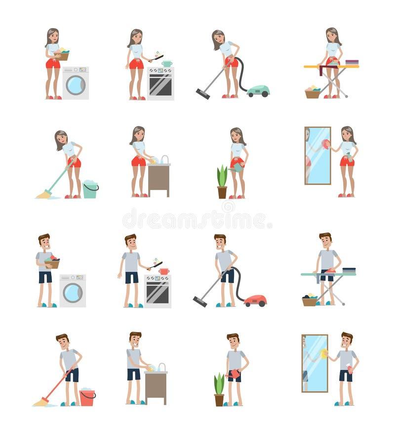 Δραστηριότητες καθαρισμού καθορισμένες απεικόνιση αποθεμάτων