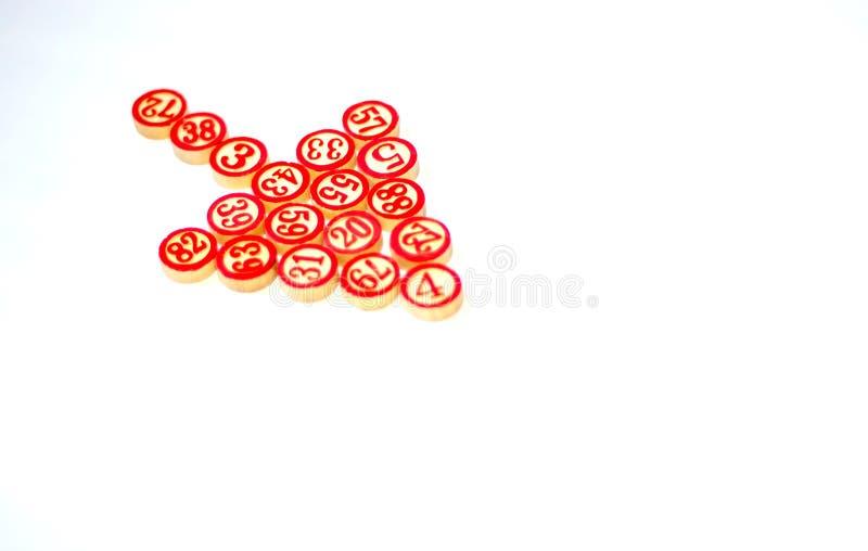 Δρομέας ποντικιών που γίνεται με τους αριθμούς bingo στοκ εικόνες