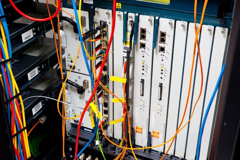 Δρομολογητής ραφιών κεντρικών υπολογιστών στοκ φωτογραφία με δικαίωμα ελεύθερης χρήσης