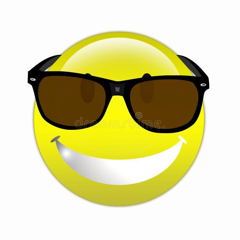 δροσίστε το smiley ελεύθερη απεικόνιση δικαιώματος