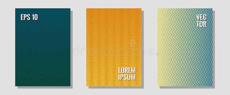 Δροσερά διανυσματικά πρότυπα γραφικής παράστασης εμβλημάτων καθορισμένα Αφίσσες Hipster Ημίτοά σκηνικά λωρίδων κυμάτων γραμμών τρ απεικόνιση αποθεμάτων