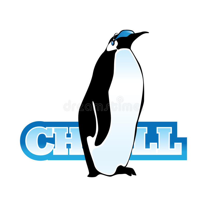 Δροσερή απεικόνιση εικονιδίων Penguin ελεύθερη απεικόνιση δικαιώματος