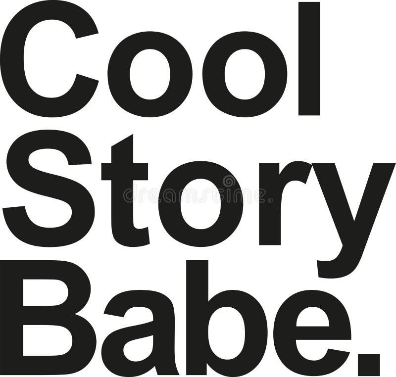 Δροσερή ιστορία babe διανυσματική απεικόνιση