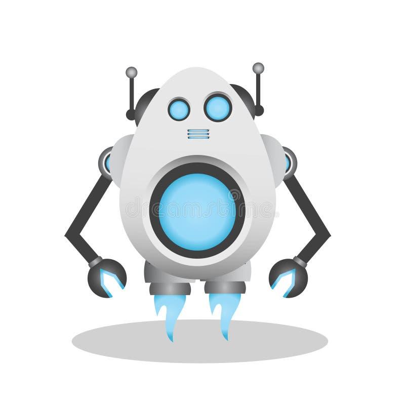 Δροσερή και χαριτωμένη τρισδιάστατη απεικόνιση ρομπότ απεικόνιση αποθεμάτων
