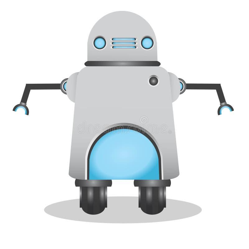 Δροσερή και χαριτωμένη τρισδιάστατη απεικόνιση ρομπότ ελεύθερη απεικόνιση δικαιώματος
