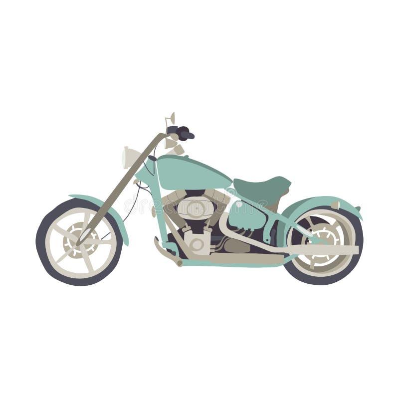 Δροσερή μοτοσικλέτα στο άσπρο υπόβαθρο διανυσματική απεικόνιση
