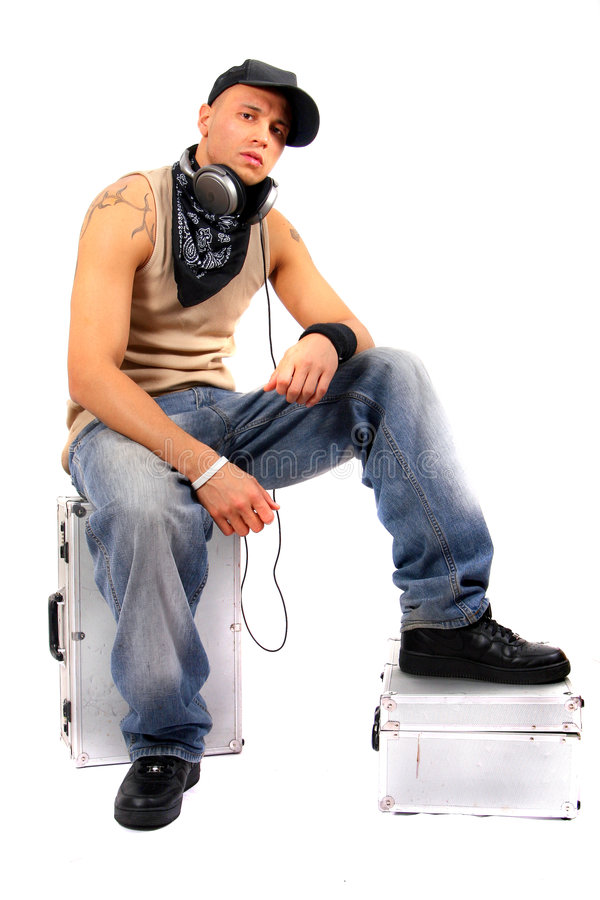 δροσερή χαλάρωση του DJ στοκ εικόνα
