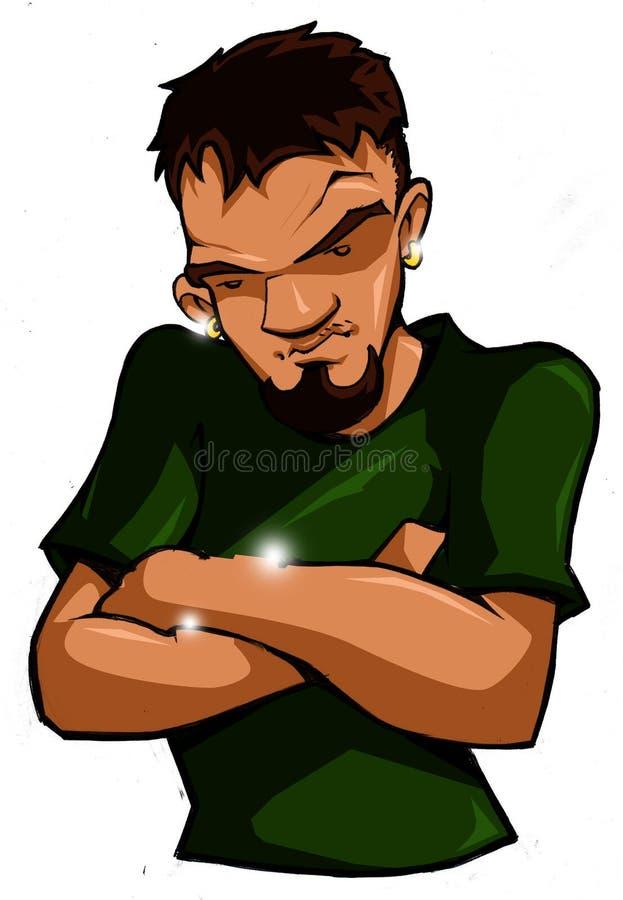 δροσερός έφηβος λυκίσκ&omi απεικόνιση αποθεμάτων