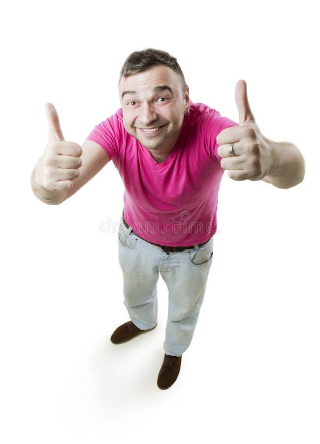 Δροσερό άτομο αντίχειρων επάνω στοκ εικόνα