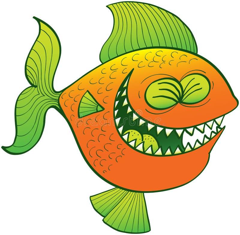 Δροσερό γέλιο ψαριών διανυσματική απεικόνιση