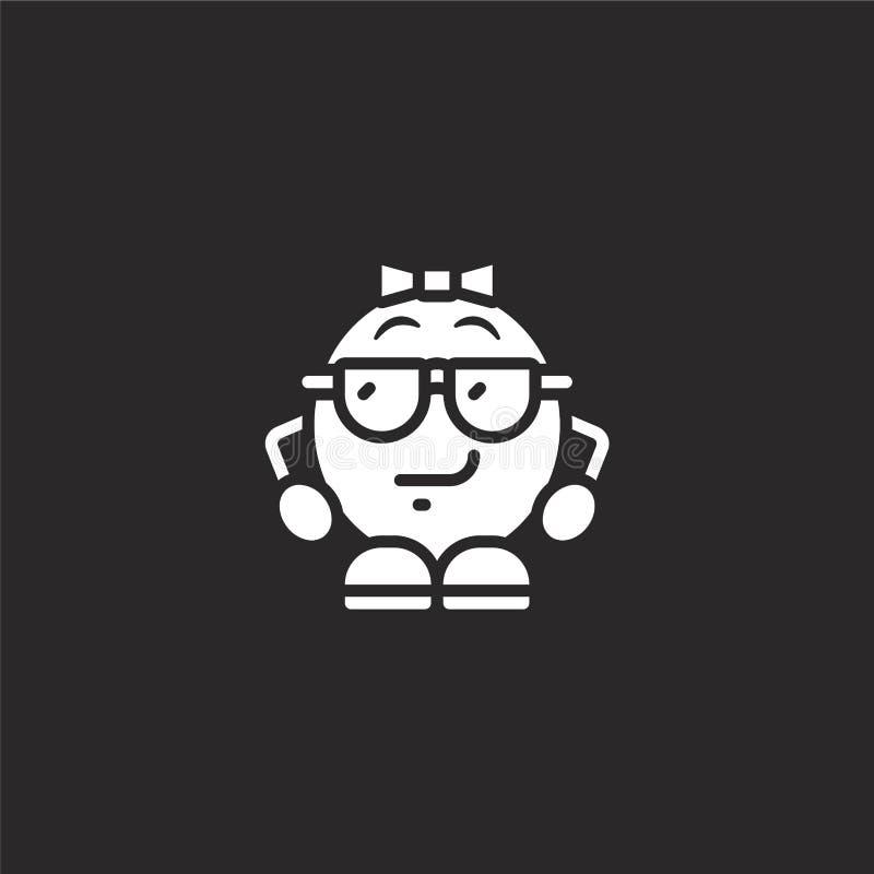 δροσερό εικονίδιο Γεμισμένο δροσερό εικονίδιο για το σχέδιο ιστοχώρου και κινητός, app ανάπτυξη δροσερό εικονίδιο τη γεμισμένη συ απεικόνιση αποθεμάτων
