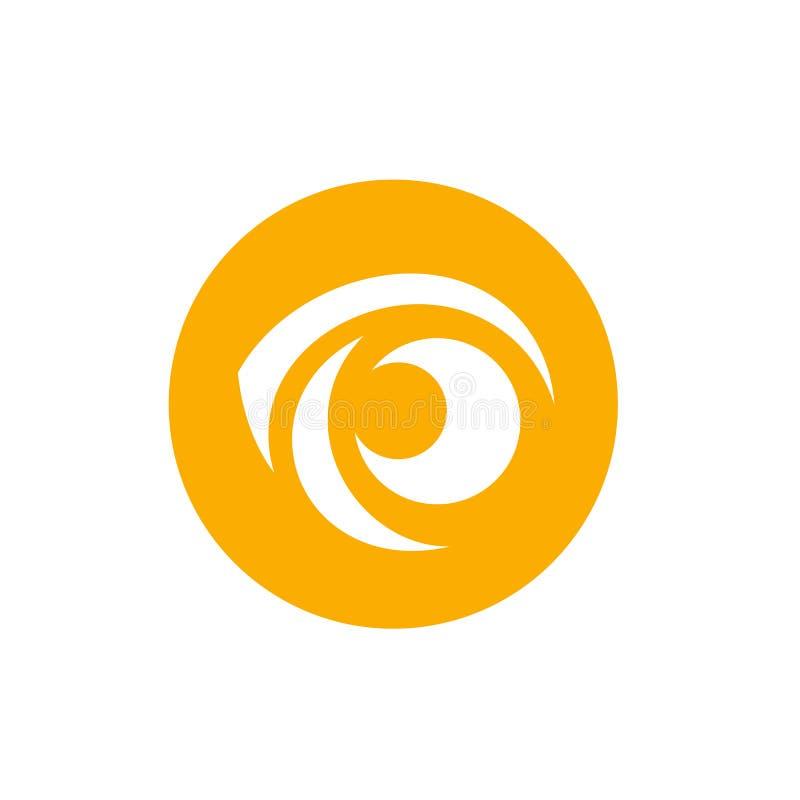 Δροσερό εικονίδιο οράματος, λογότυπο Απομονωμένος στο άσπρο υπόβαθρο, διανυσματική απεικόνιση διανυσματική απεικόνιση