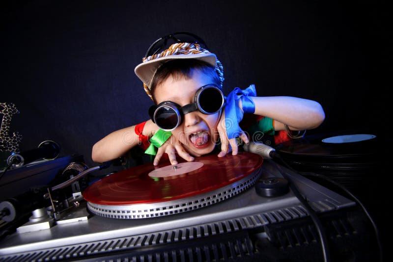 Δροσερό κατσίκι DJ στοκ εικόνα