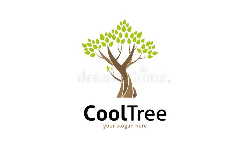 Δροσερό λογότυπο δέντρων ελεύθερη απεικόνιση δικαιώματος