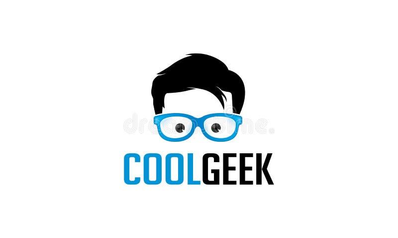 Δροσερό λογότυπο Geek διανυσματική απεικόνιση