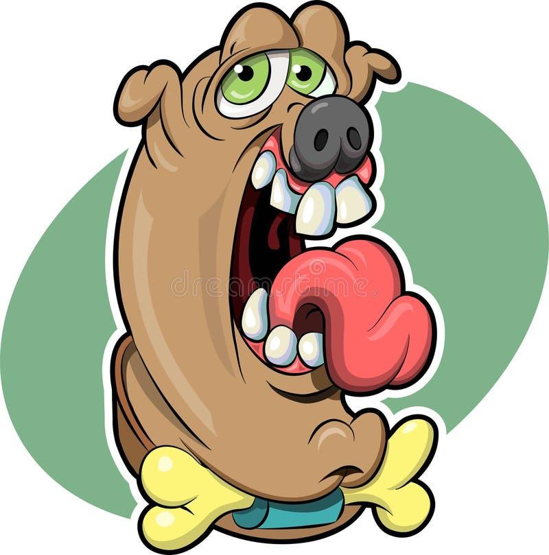 δροσερό σκυλί ελεύθερη απεικόνιση δικαιώματος