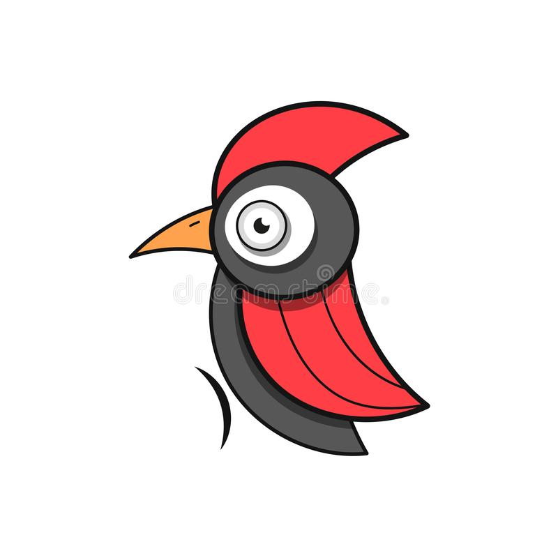 Δρυοκολάπτης Ζωική αφηρημένη διανυσματική επιχείρηση Icon Nature Company άγριας φύσης ζωολογικών κήπων προτύπων πουλιών διανυσματική απεικόνιση