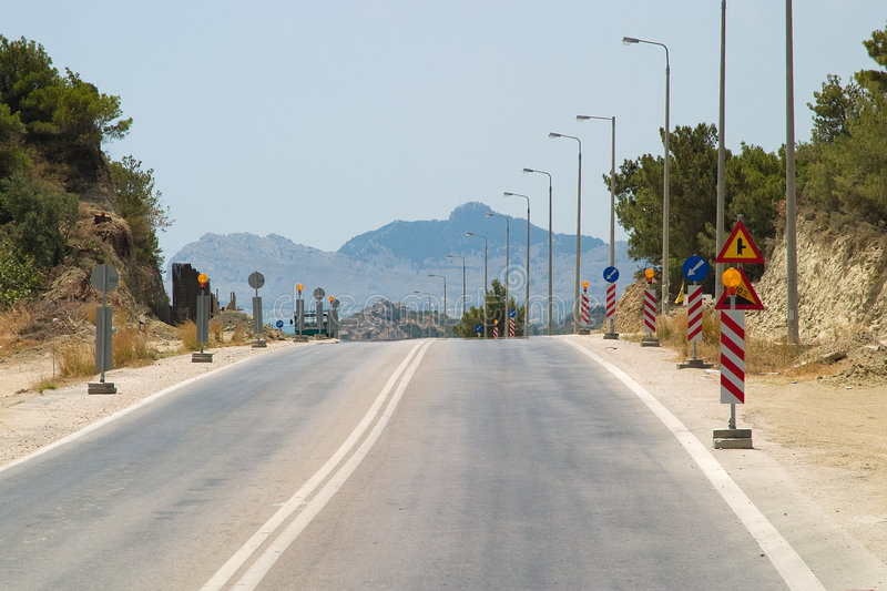 δρόμοι επισκευής στοκ εικόνα με δικαίωμα ελεύθερης χρήσης