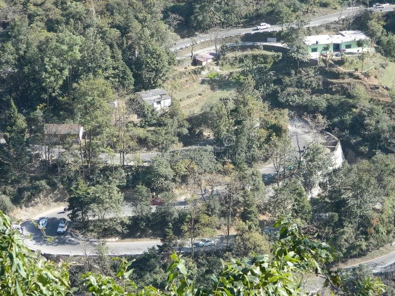 Δρόμοι σε Mussoorie στοκ εικόνες