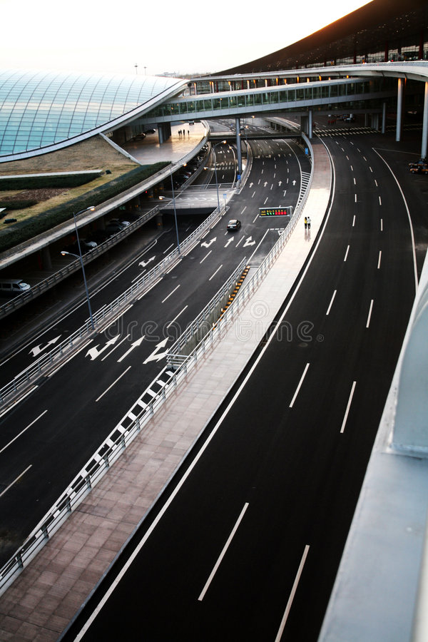 δρόμοι του Πεκίνου αερολιμένων στοκ φωτογραφίες
