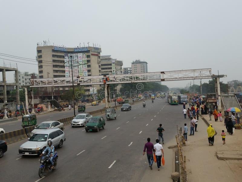 Δρόμος αερολιμένων Dhaka το πρωί στοκ εικόνα με δικαίωμα ελεύθερης χρήσης