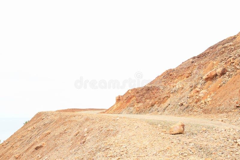 Δρόμος αμμοχάλικου στο βουνό στοκ εικόνες