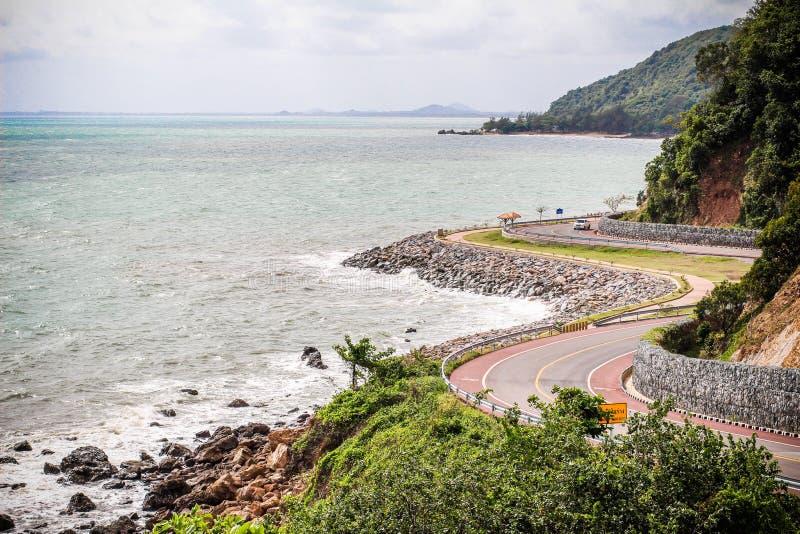 Δρόμος από Chanthaburi Sea στοκ εικόνα