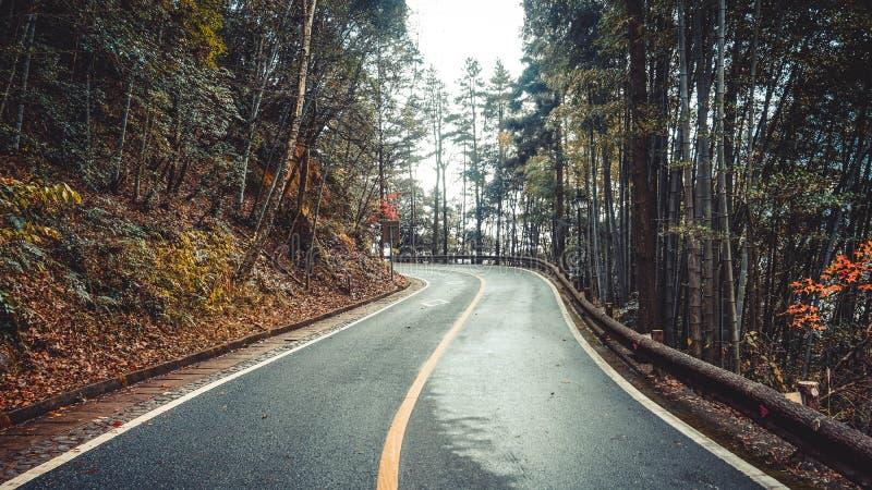 Δρόμος βουνών στην επαρχία Huangshan Κίνα στοκ εικόνες