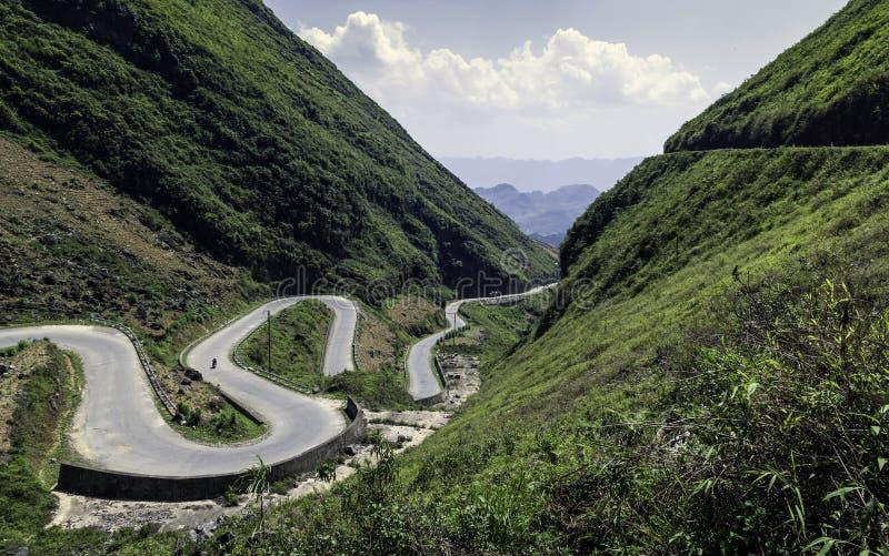 Δρόμος βουνών στο Βιετνάμ στοκ εικόνες