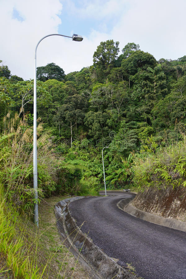 Δρόμος βουνών στο Χάιλαντς του Cameron στοκ φωτογραφία με δικαίωμα ελεύθερης χρήσης