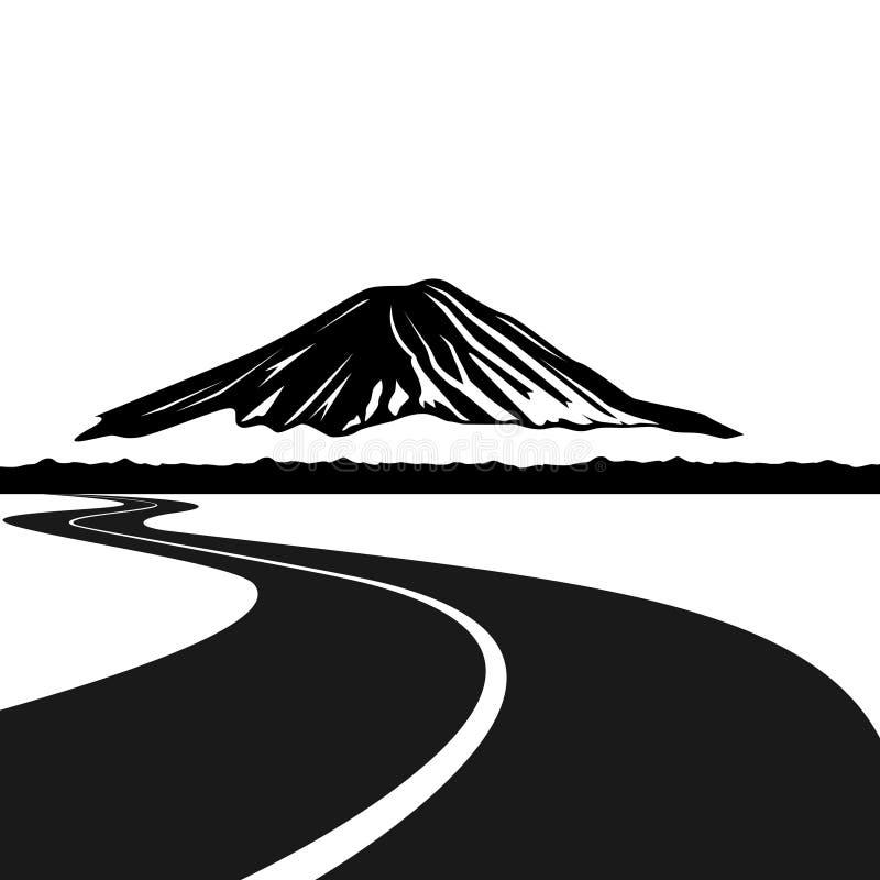 Δρόμος για να τοποθετήσει το Φούτζι διανυσματική απεικόνιση