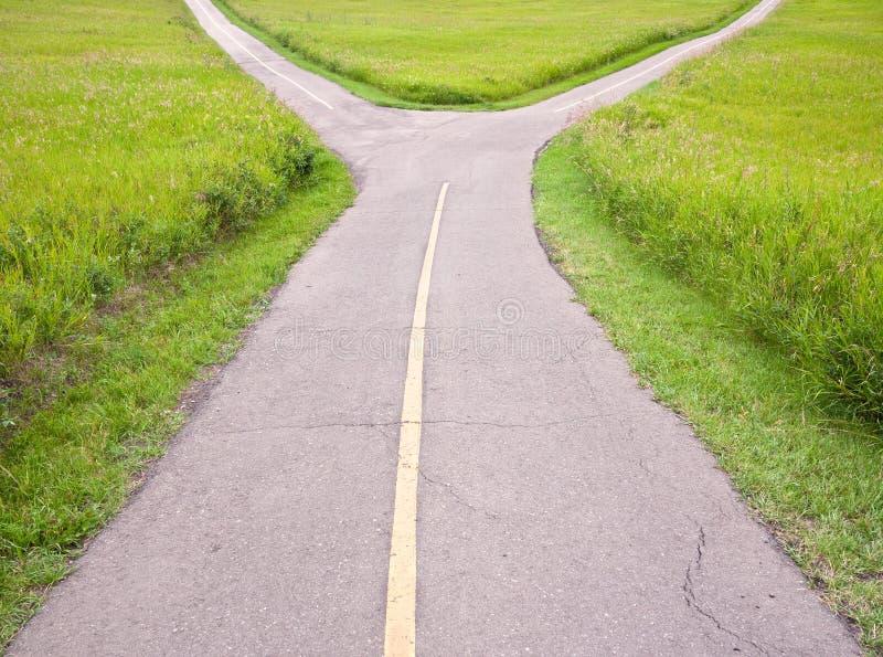 δρόμος δικράνων στοκ εικόνα με δικαίωμα ελεύθερης χρήσης