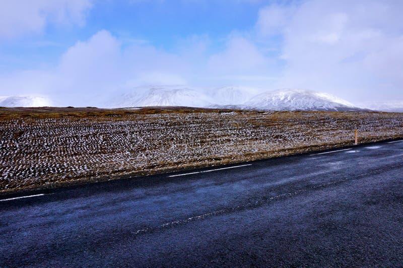 Δρόμος Ισλανδία στοκ φωτογραφίες με δικαίωμα ελεύθερης χρήσης