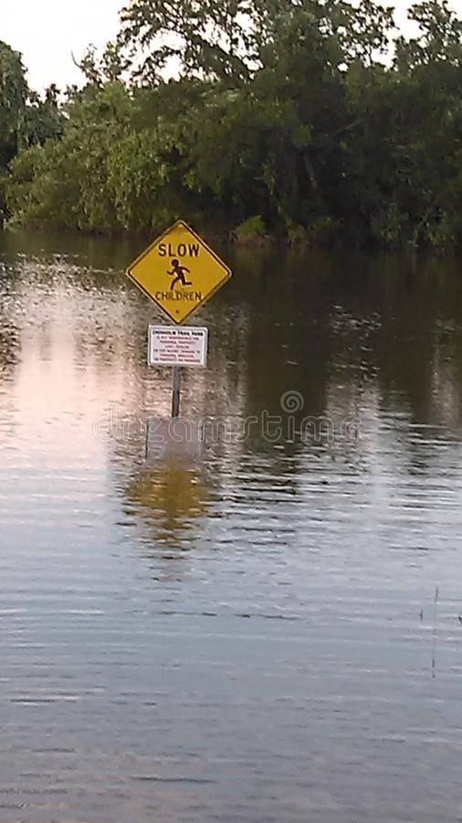 Δρόμος κάτω από το νερό στοκ φωτογραφίες