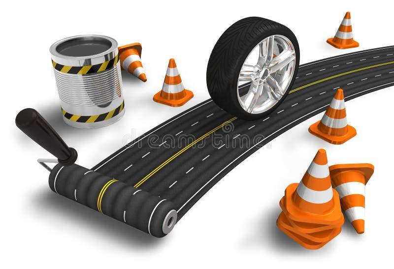 δρόμος κατασκευής έννοι&al απεικόνιση αποθεμάτων