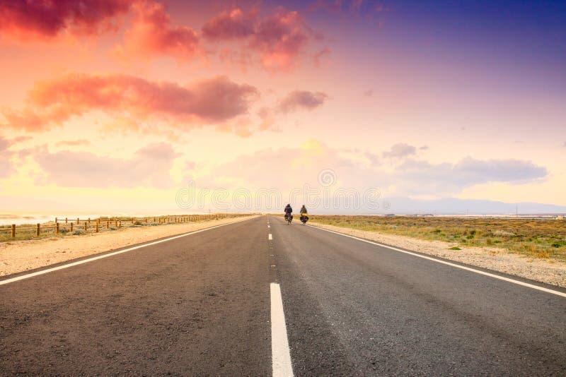 Δρόμος μέσω του Gabo de Gata στοκ εικόνες με δικαίωμα ελεύθερης χρήσης