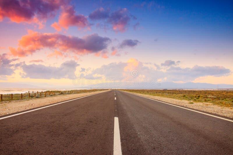 Δρόμος μέσω του Gabo de Gata στοκ φωτογραφία