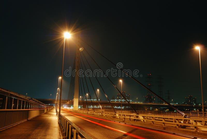 Δρόμος νύχτας στοκ εικόνα