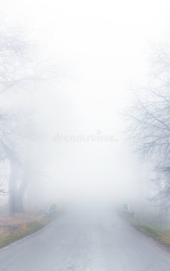δρόμος ομίχλης στοκ εικόνα