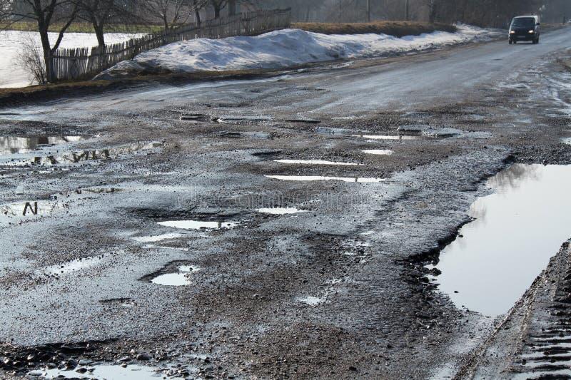 Δρόμος που καταστρέφεται στοκ εικόνα με δικαίωμα ελεύθερης χρήσης