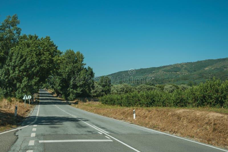 Δρόμος που περνά μέσω του αγροτικού τοπίου στοκ φωτογραφία με δικαίωμα ελεύθερης χρήσης