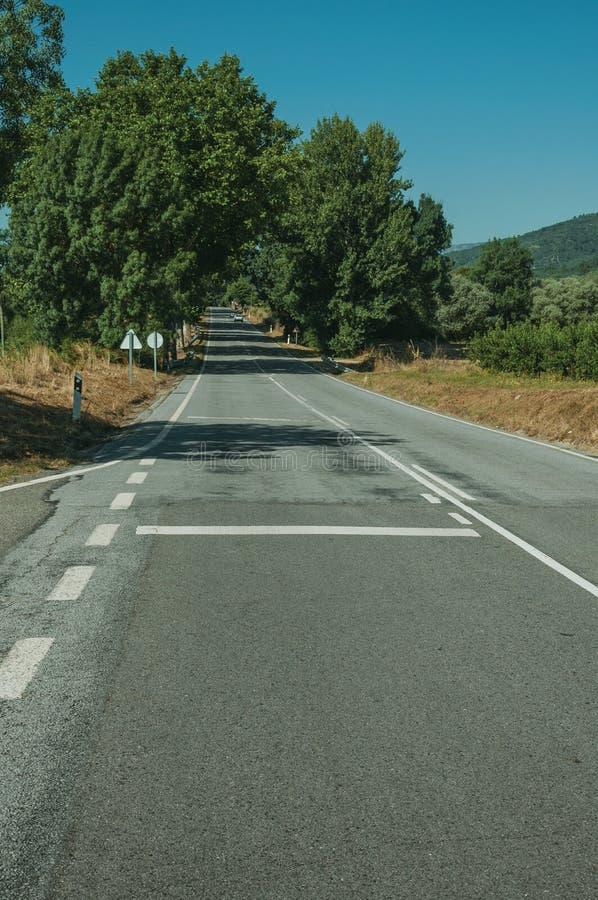 Δρόμος που περνά μέσω του αγροτικού τοπίου στοκ εικόνες