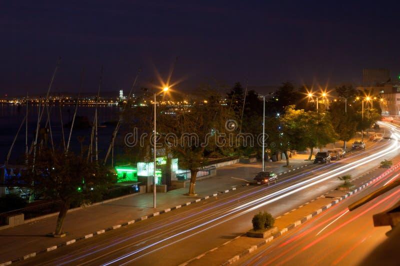 Δρόμος στο Νείλο σε Aswan στοκ εικόνες